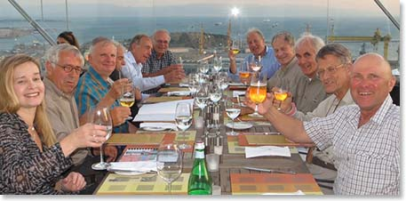 Our friends from the Netherlands started our Ararat 2013 season off with a beautiful rooftop dinner at their hotel overlooking Istanbul