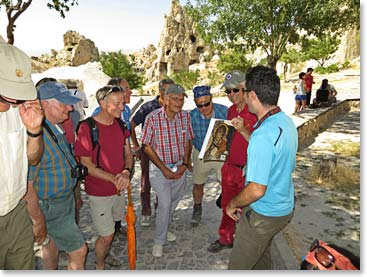 There is so much to learn about Cappadocia, the region is full of great history and culture and this group was ready to learn!
