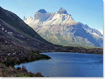 Looking back on the Torres del Paine