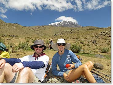 Taking a break on Mount Ararat