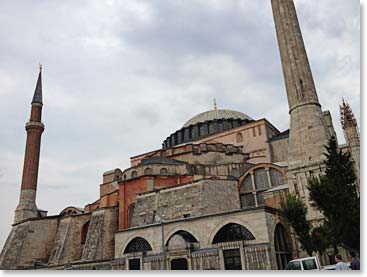 The Hagia Sofia is a structure of architectural wonder in Istanbul and one of our favorites to visit.