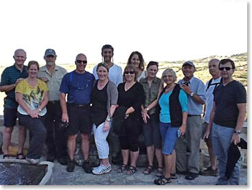 The group could not wait to arrive in Cappadocia .