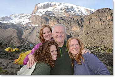 Doc and his daughters on Kilimanjaro – the dream