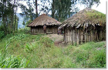 While trekking in the jungle we will pass remote villages.