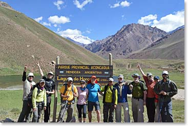 An excited team of Aconcagua climbers!