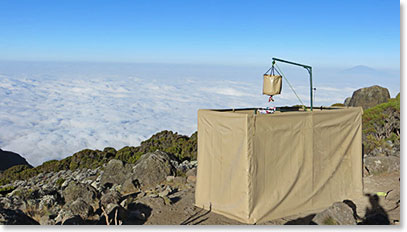 Berg Adventures showers on Kilimanjaro