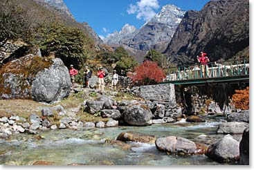 Trekking through the stunning Khumbu region