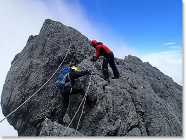 Getting technical on Carstensz Pyramid