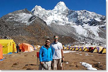 Ama Dablam on Base Camp
