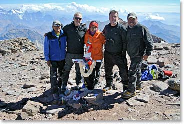 2015 Aconcagua summit team