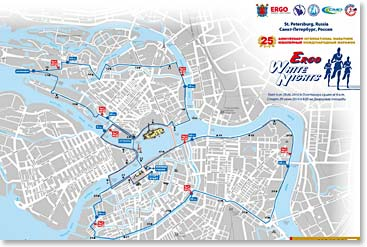 White Nights Marathon race map