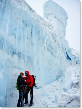 Ljerka and her husband Jeremy climbing in 2012