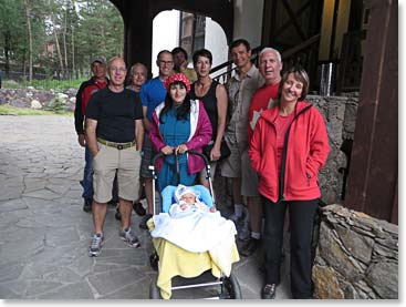 Berg Adventures guide Karina introduced our Mount Elbrus team to her beautiful baby boy Tamerlan!