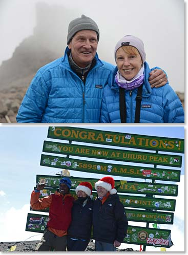 Dick Morse and Terri  Morse - Dale Krapf and Nannette Krapf climbed Kilimanjaro with their friends.