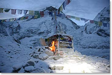 Everest Base Camp at night