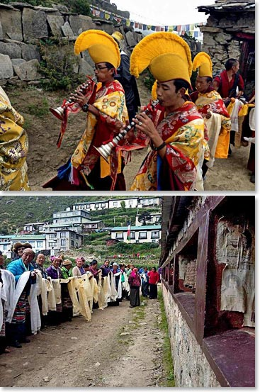 The people of the Khumbu ready to welcome and celebrate the reappearance of the High Lama