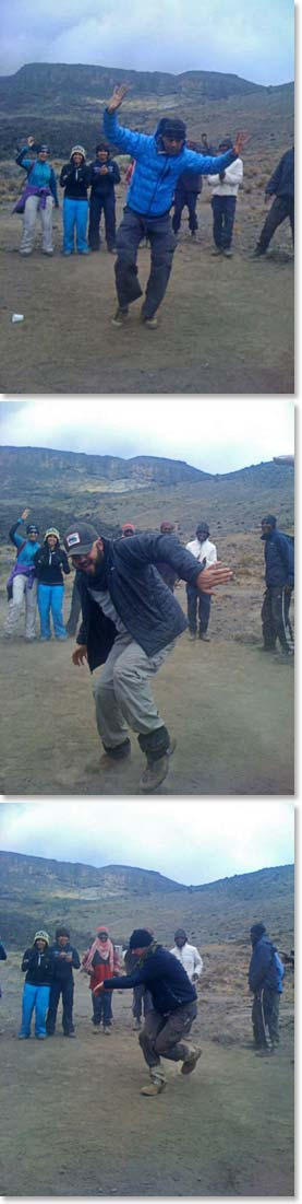 Our climbers love to show off their dance moves on Kilimanjaro!