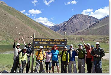 Our Aconcagua team enters the beautiful Aconcagua Provincial Park