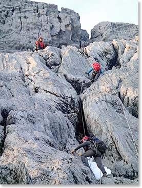 Carstensz Pyramid offered climbers some exciting traverses on their summit day