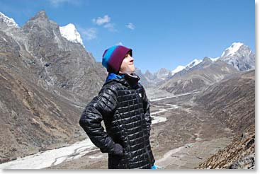 Jackson surrounded by the great Himalayan peaks