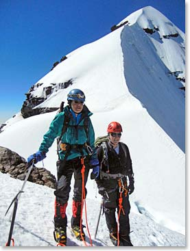 Chris and Micheline on Pequeno Alpamayo summit day