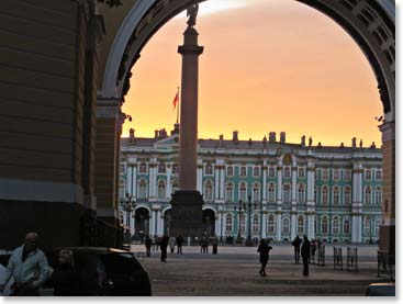 The after midnight sunsets along the stunning streets of St. Petersburg never disappoint