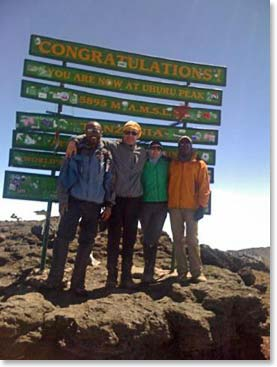 Patty Walker and Matt Doty on the summit of Kilimanjaro!