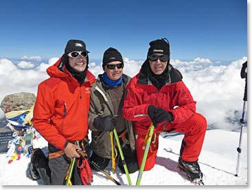Three longtime friends Gordon Buntain, Chuck Tattrie and Rob Macdonald reached the summit of Mount Elbrus together.