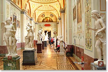 Touring the famous museums in St. Petersburg