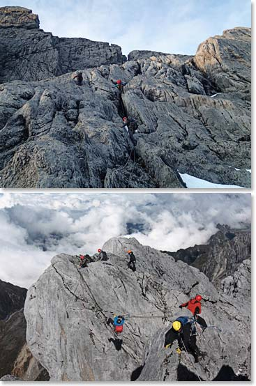 Incredible climbing and views on Carstensz summit da