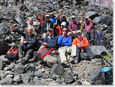 The Dutch team beginning their climb of Mount Ararat