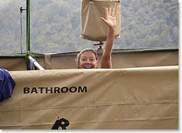 Berg Adventures introduced our own shower facility for our Kilimanjaro climbers!