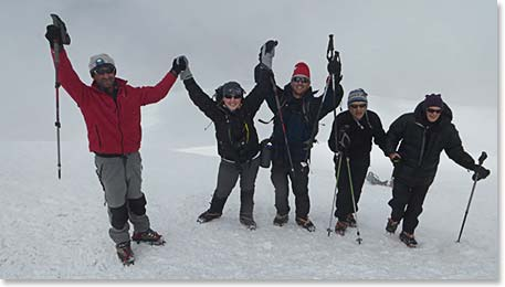 Our third group of Ararat climbers excited to reach the summit!
