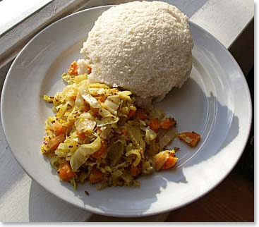 Ugali, a classic East African dish made of maize flour (Photo credit: Mark Skipper)