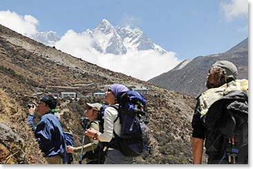 Along the trail to Everest Base Camp there are many incredible sights.