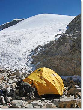 High Camp on Huayana Potosi