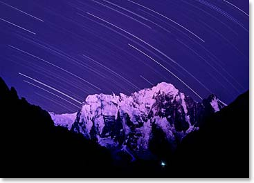A starry night in the Caucasus Mountains (Photo Credit: Vladimir Kopylov)