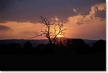 Sunset in Ngorongoro Crater
