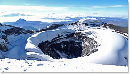 The dramatic Cotopaxi Crater
