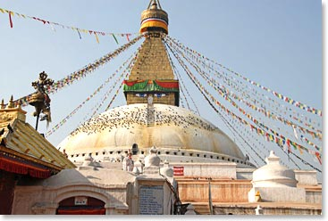 The Boudanath Stupa in Kathmandu