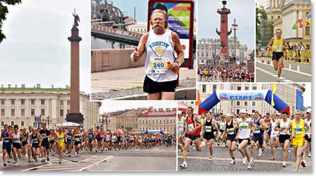 The famous St. Petersburg White Nights Marathon is a great way to tour the city and take part in a local event!