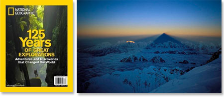 National Geographic magzine features Wally Berg's Shadow of Everest
