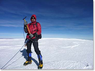 On the summit of Sajama