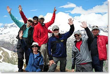 On the summit of Mount Elbrus