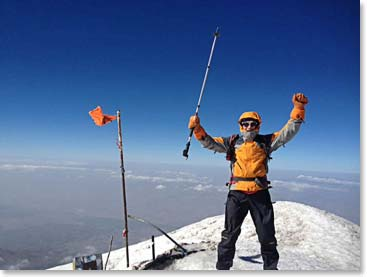 On the summit of Ararat last summer