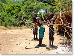 Waliangulu bow hunters are featured in the books. Their bows were forceful enough to take down an elephant with one arrow.