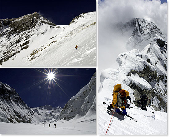 Photos by Jimmy Chin of Kit's 2006 Ski Expedition of Mount Everest with Berg Adventures