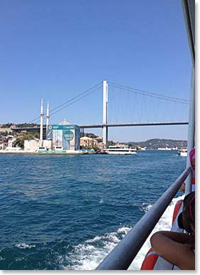 Blue skies on a Bosphorus River cruise