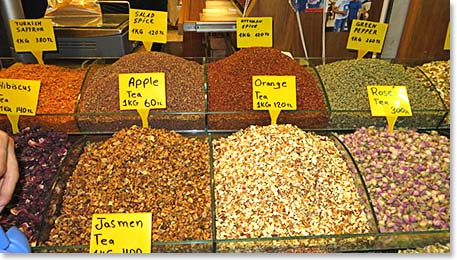 Spices galore at the Egyptian Bazaar