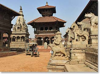 The ancient city of Bhaktapur
